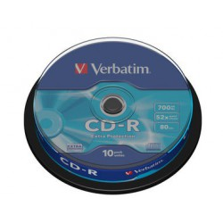 Mediji CD-R 700MB 52x Verbatim extra protection Cake-10 (43437)