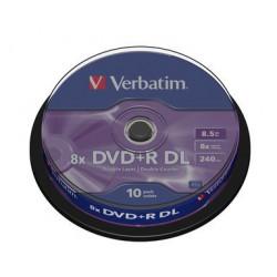 Mediji DVD+R Dual Layer 8.5GB 8x Verbatim Spindle-10 (43666)