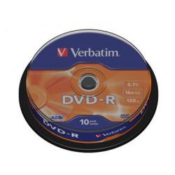 Mediji DVD-R 4.7GB 16x Verbatim Spindle-10 (43523)