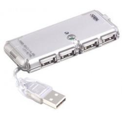 USB HUB 4x A z AC adapterjem, slim, Aten UH-275