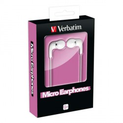 Slušalke ušesne Verbatim Micro, pink, 49112