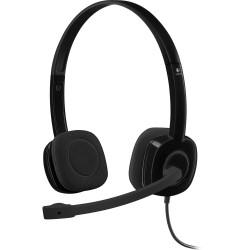 Slušalke z mikrofonom Logitech H151 črne