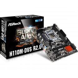 Matična plošča ASRock 1151 H110M-DVS R2.0, DDR4
