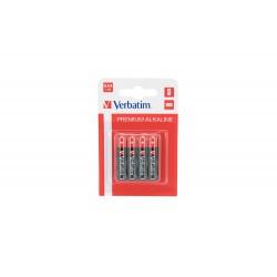 Baterija alkalna AAA 1.5V 4/1 Verbatim 49920