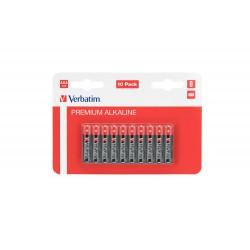 Baterija alkalna AAA 1.5V 10/1 Verbatim 49874