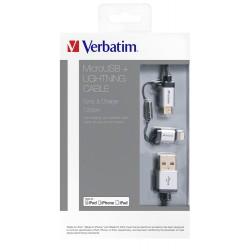 Kabel USB na mikro USB + Lightning 120cm Verbatim 48857