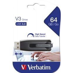 USB ključek 64GB Verbatim Store'N'Go V3 črn 49174