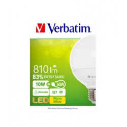 LED sijalka (žarnica) Verbatim 52611 Globe Frosted E27 10W dimmable