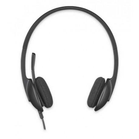 Slušalke z mikrofonom Logitech H340 stereo, USB, črne