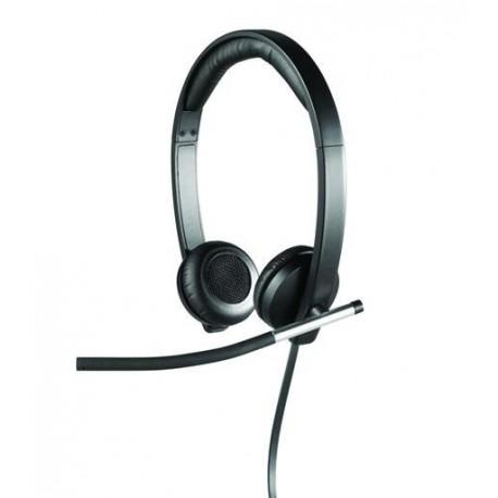Slušalke z mikrofonom Logitech H650E stereo