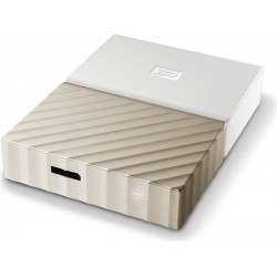 Zunanji disk USB 3.0 4TB WD My Passport Ultra, bel/zlat (WDBFKT0040BGD-WESN)
