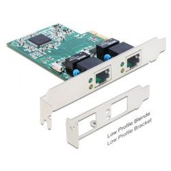 Mrežna kartica Giga 10/100/1000 PCI Express 2xRJ45 + Low Profile Delock