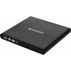 Zunanji DVD zapisovalnik USB Verbatim Mobile DVD ReWriter črn (98938)