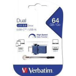 USB ključek 64GB Verbatim 3.0 Store n Go Dual USB-C 49967