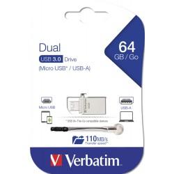 USB ključek 3.0 64GB Verbatim OTG Micro Drive Metal 49827