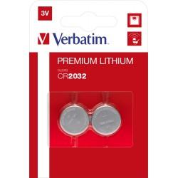 Baterija CR2032 Verbatim dvojno pakiranje 49936
