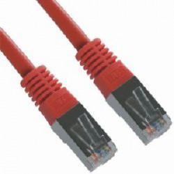 Priključni kabel za mrežo Cat5e FTP 3m rdeč