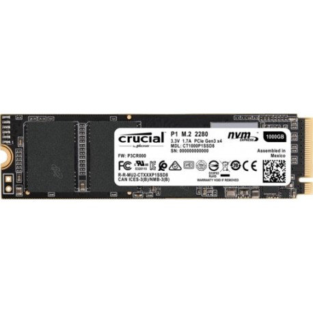 SSD disk 1TB M.2 NVMe CRUCIAL P1, CT1000P1SSD8