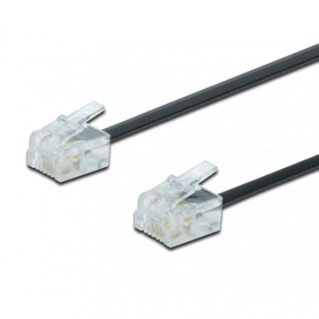 Telefonski priključni kabel RJ11-RJ11 3m Digitus