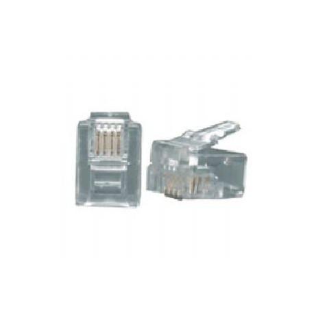 Konektor za telefonski kabel 4 žilni - RJ11, 1 KOS