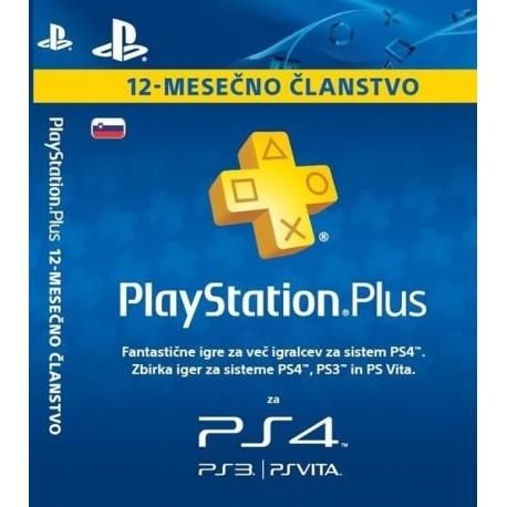 Playstation PS+ kartica 12 mesecev SVN