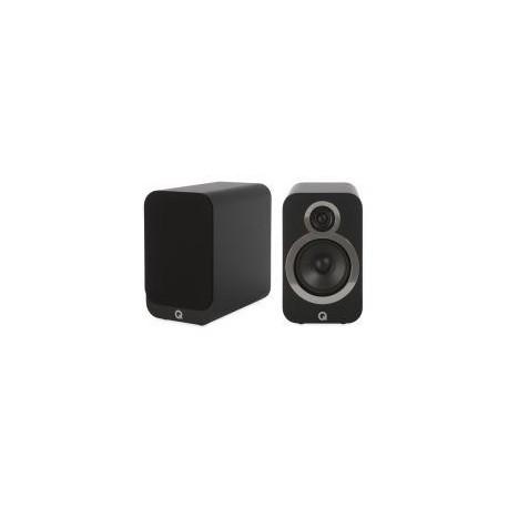 Zvočniki Hi-Fi Q Acoustics 3020i Karbonsko črna, Par kompaktnih zvočnikov