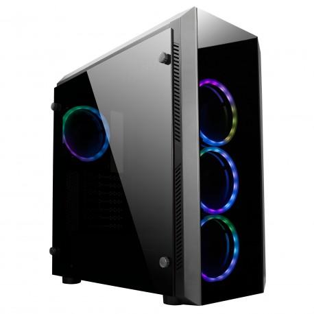 Ohišje ATX Chieftec GL-02B-OP USB3.1 RAINBOW