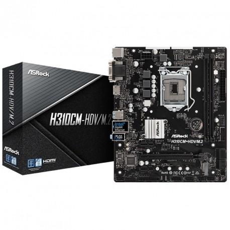 Matična plošča AsRock H310CM-HDV/M.2, DDR4 LGA1151 mATX