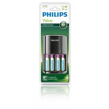 Polnilnik baterij Philips Multilife + 4x AA baterije