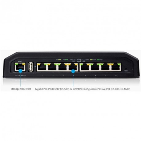 UBIQUITI EdgeSwitch 8 ES-8XP PoE 8-port gigabit managed mrežno stikalo-switch