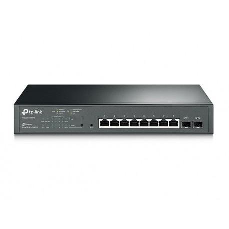 TP-Link JetStream 8-Port Gigabit Smart PoE+ Stikalo, 2 × SFP, T1500G-10MPS