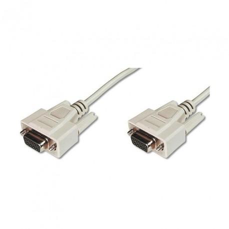 Serijski kabel 1:1 DB9Ž-DB9Ž 3m siv Digitus