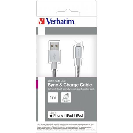 Kabel USB na Lightning 100cm Silver Verbatim 48859