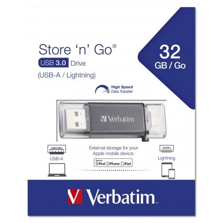 USB ključek 32GB Verbatim 3.0 Lightning Store n Go Dual 49300