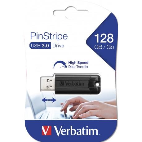 USB ključek 3.0 128GB Verbatim Pin Stripe 49319