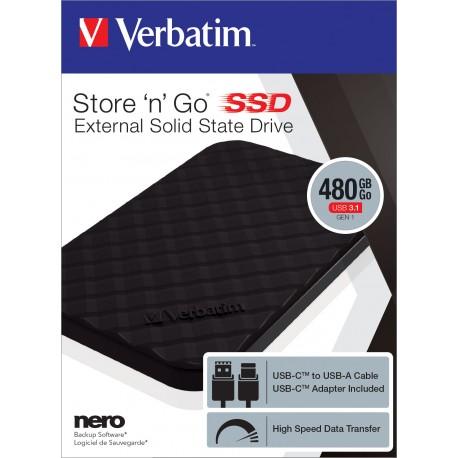 Zunanji disk SSD 480GB USB 3.1 Verbatim 53229