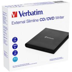 Zunanji DVD zapisovalnik Verbatim Mobile DVD ReWriter črn (53504)