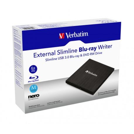 Zunanji Blu-Ray zapisovalnik Verbatim External Slimline Blu-Ray Writer (43890)