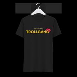 Majica moška črna TrollGang Kiss zlat napis