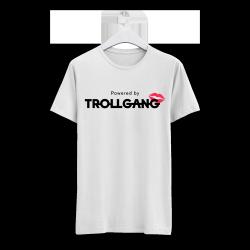 Majica moška bela TrollGang Kiss črn napis
