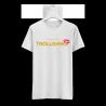 Majica moška bela TrollGang Kiss zlat napis