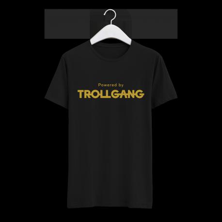 Majica moška črna Powered By TrollGang zlat napis