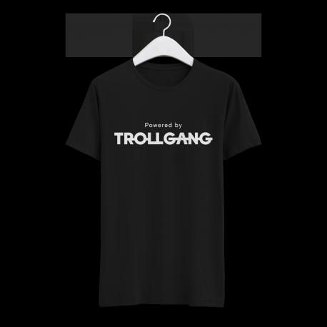 Majica moška črna Powered By TrollGang bel napis