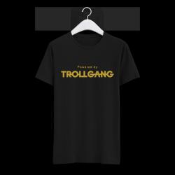 Majica otroška črna Powered By TrollGang zlat napis