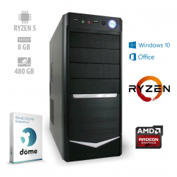Osebni računalnik ANNI HOME Advanced / Ryzen 5 3400G / SSD / W10 / OF365 / CX3