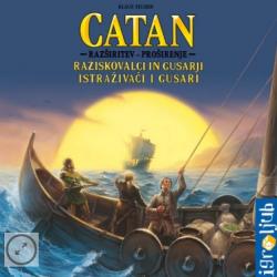 Družabna igra Catan - razširitev Raziskovalci in Gusarji