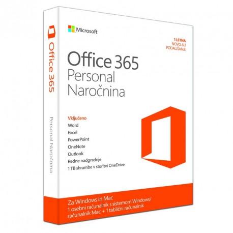 Microsoft Office 365 Personal, slovenski, 1 letna naročnina