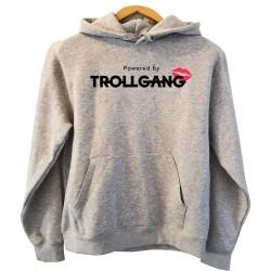 Pulover s kapuco otroški TrollGang Kiss, siv