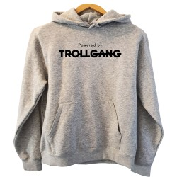 Pulover s kapuco ženski Powered By TrollGang, siv