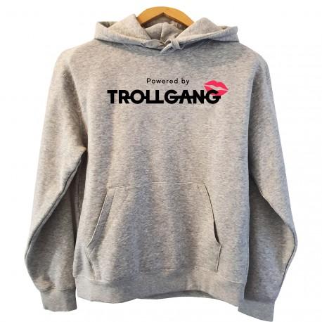 Pulover s kapuco ženski TrollGang Kiss, siv